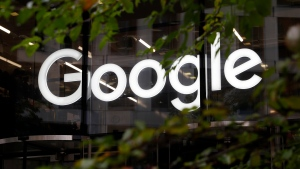 FILE - This Nov. 1, 2018, file photo shows a photo of the Google logo at their offices in Granary Square, London. The European Court of Justice's ruled Tuesday, Sept. 24, 2019, that there is no obligation under EU law, for a search engine operator to extend beyond the EU member states the court's 2014 ruling that people have the right to control what appears when their name is searched online. (AP Photo/Alastair Grant, File)