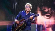 FILE - In this Aug. 13, 2017 file photo, Roger Daltrey of The Who performs at the 2017 Outside Lands Music Festival at Golden Gate Park in San Francisco. The Who cut short a Houston concert on Wednesday, Sept. 25, 2019, after lead singer Daltrey lost his voice midway through the event. The 75-year-old Daltrey and 74-year-old Townsend are the last original members with the band, which formed 55 years ago. (Photo by Amy Harris/Invision/AP, File)