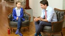 Justin Trudeau and Greta Thunberg