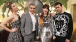 "The cast of the television show ""Schitt's Creek,"" Annie Murphy (left to right) Eugene Levy, Catherine O'Hara and Daniel Levy is shown in a handout photo. (THE CANADIAN PRESS/HO-CBC)"