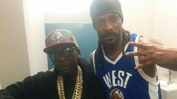 Louie Rankin is seen with Snoop Dogg in a photo from his Facebook page.