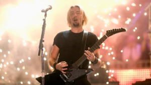 Chad Kroeger performs with Nickelback at the MuchMusic Video Awards in Toronto on Sunday June 21, 2009. Twitter and YouTube's decision to delete an edited clip of Nickelback posted in a political attack by Donald Trump came down to copyright complaints, but lawyers say the actions of the U.S. president may run afoul of other laws that protect singer Chad Kroeger's likeness from being used without his permission. THE CANADIAN PRESS/Nathan Denette