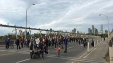 protest, Bloor, Viaduct,