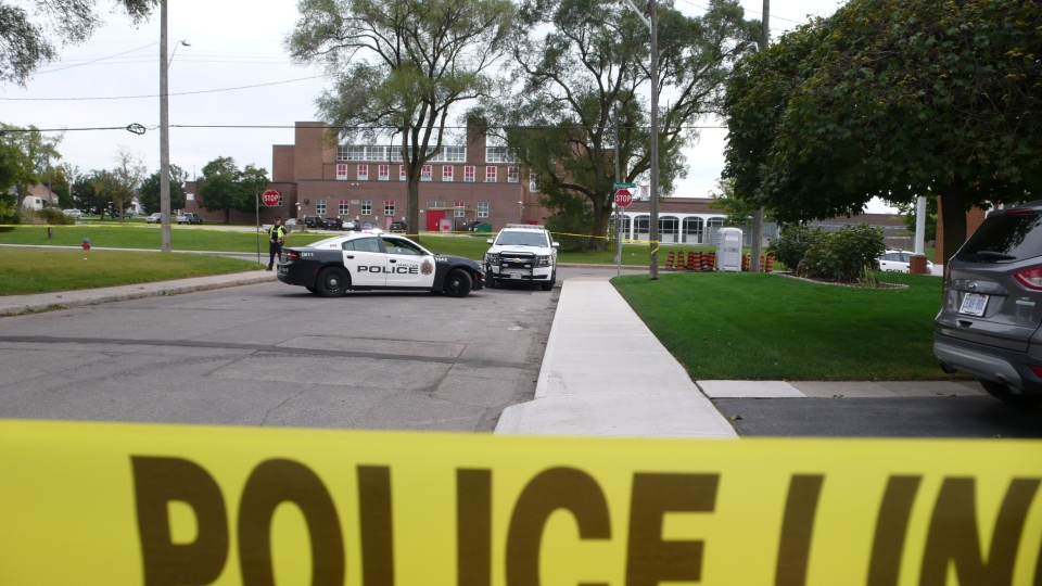 A 14-year-old boy is dead after an assault outside Sir Winston Churchill Secondary School in Hamilton. (Ricardo Alfonso)