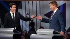 Andrew Scheer and Justin Trudeau