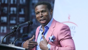 Mike (Pinball) Clemons, football, is part of the 2016 class of inductees into the Canadian Sports Hall of Fame at the Canadian Sports Hall of Fame at Canada Olympic Park in Calgary, Wednesday, June 22, 2016.THE CANADIAN PRESS/Mike Ridewood