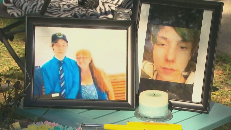 A memorial has been set up for 14-year-old Devan Selvey, who was stabbed to death outside his Hamilton high school on Monday.