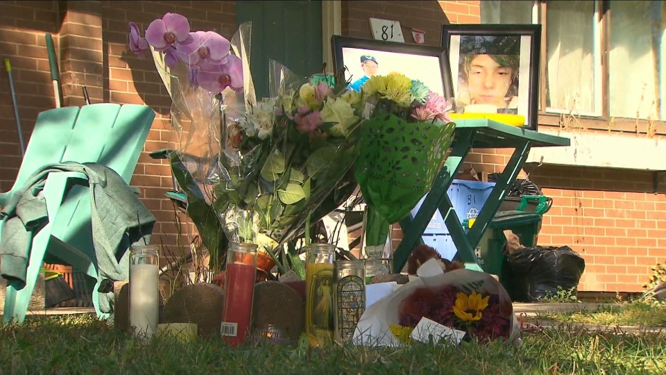 A memorial continues to grow for Devan Selvey, who was fatally stabbed outside his high school in Hamilton on Monday.