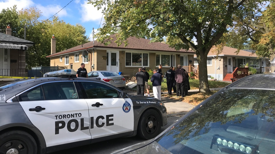 Police respond to a stabbing on Birkdale Road in the Midland Park area Thursday October 10, 2019. (Janice Golding)