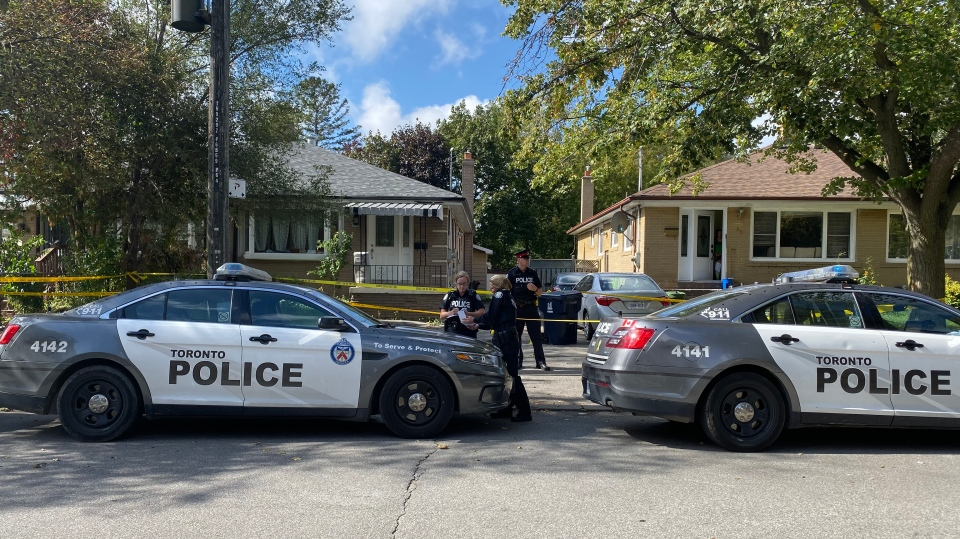 Police respond to a stabbing on Birkdale Road in the Midland Park area Thursday October 10, 2019. (Peter Muscat)