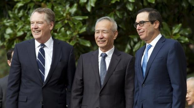 Chinese Vice Premier Liu He accompanied by U.S.
