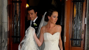 Ben Mulroney, 32, and his bride Jessica Brownstein, 29, leave St. Patrick's Bascilica in Montreal after their wedding ceremony on Thursday Oct. 30, 2008. Mulroney, 32, is the son of former prime minister Brian Mulroney. THE CANADIAN PRESS/Graham Hughes