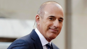"In this April 21, 2016, file photo, Matt Lauer, then co-host of the NBC ""Today"" television program, appears on set in Rockefeller Plaza, in New York. (AP Photo/Richard Drew, File)"