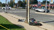 Hit-and-run at Pharmacy Avenue and Ellesmere Road. Baby has been transported to hospital in life-threatening condition, two other women were taken to a trauma centre with serious injuries. (Francis Gibbs/ CTV Toronto)