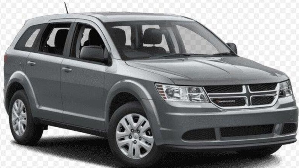 Toronto police are looking for a grey, 2015 Dodge Journey, with Ontario licence plate ANXC 265 after an alleged hit-and-run in Scarborough seriously hurt three pedestrians. (Toronto police)