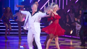 "This Sept. 30, 2019 photo released by ABC shows former White House press secretary, Sean Spicer, left, and Lindsay Arnold during the celebrity dance competition series ""Dancing With the Stars,"" in Los Angeles. President Donald Trump tweeted Monday, Oct. 14, that viewers should vote for Spicer. The president called hima ""good guy"" and wrote ""he has always been there for us!"" Spicer told USA Today there's no question a ""huge"" amount of his votes come from Trump supporters. (Eric McCandless/ABC via AP)"