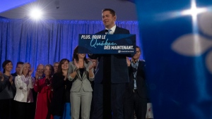 Conservative Leader Andrew Scheer delivers a campaign speech in La Prairie, Que., Tuesday, Oct. 15, 2019. THE CANADIAN PRESS/Adrian Wyld