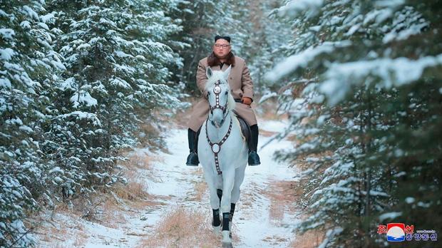 Kim on a horse