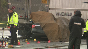 Double fatal collision this morning in Mississauga. (Corey Baird)