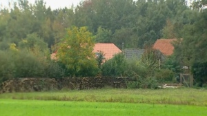 The small group of buildings after a family group were discovered to be living in secluded conditions in Ruinerwold, 130 kilometers (80 miles) northeast of Amsterdam, Netherlands, Tuesday Oct. 15, 2019. Dutch authorities were Tuesday trying to piece together the story of a six-member family group believed to have lived for nine years on a farm, isolated from the outside world in the rural east of the Netherlands. (RTL Netherlands via AP)