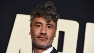 "Director/writer/producer Taika Waititi arrives at the Los Angeles premiere of ""Jojo Rabbit"" at the Hollywood American Legion Post 43 on Tuesday, Oct. 15, 2019. (Photo by Jordan Strauss/Invision/AP)"