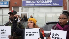 Ford office protest