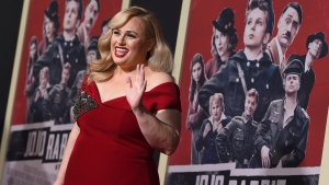 "Rebel Wilson arrives at the Los Angeles premiere of ""Jojo Rabbit"" at the Hollywood American Legion Post 43 on Tuesday, Oct. 15, 2019. (Photo by Jordan Strauss/Invision/AP)"