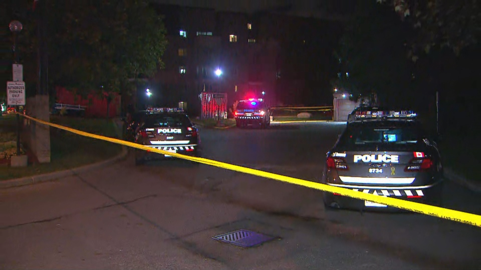 Toronto police are investigating a shooting near Don Mills Road and Steeles Avenue East that left a man dead. (CP24)