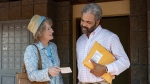 """This image released by Netflix shows Meryl Streep, left, and Jeffrey Wright in a scene from """"The Laundromat."""" (Claudette Barius/Netflix via AP, File)"""