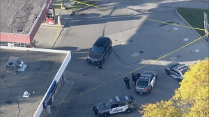 Toronto police are investigating after a pedestrian was struck by a vehicle near Bathurst Street and Sheppard Avenue. (CP24)