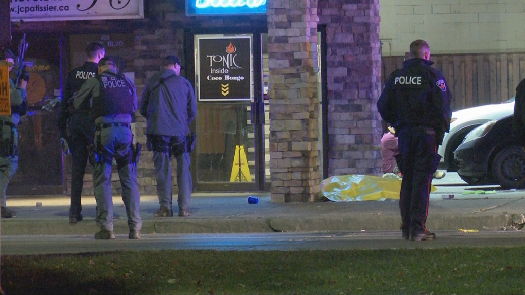 Male dies in shooting outside Hamilton bar: police