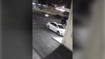 Police are also looking for this white, four-door sedan, which was seen leaving the area. (Hamilton police)