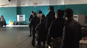 Power outages were reported at some polling stations in the city's east end. (Carol Charles/ CTV News Toronto)