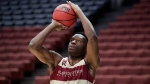 Florida State's Mfiondu Kabengele shoots during NCAA men's college basketball practice in Anaheim, Calif., Wednesday, March 27, 2019. Florida State plays Gonzaga in a west regional tournament semifinal on Thursday. Canadian rookie Mfiondu Kabengele knows he has a lot to learn heading into his first season with the Los Angeles Clippers. THE CANADIAN PRESS/AP, Jae C. Hong
