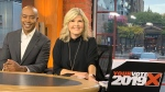 Nathan Downer and Stephanie Smyth anchor CP24's YOUR VOTE 2019