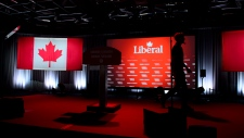 Final preparations are made for the Liberal election night in Montreal on Monday Oct. 21, 2019. THE CANADIAN PRESS/Sean Kilpatrick