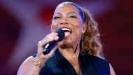 In this Wednesday, July 3, 2019, file photo, Queen Latifah performs during the dress rehearsal for the Boston Pops Fireworks Spectacular in Boston. (AP Photo/Michael Dwyer, File)