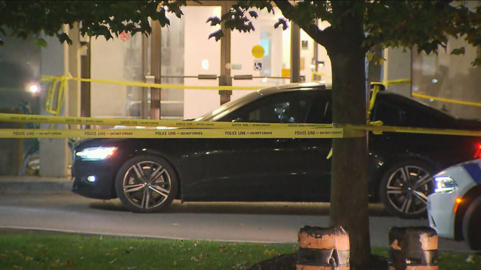 Police are investigating a fatal shooting in front of a condo building in Mississauga.