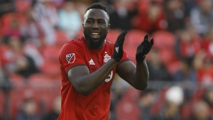 The injury report was positive Saturday for Toronto FC ahead of Wednesday's MLS Eastern Conference final in Atlanta. Toronto FC forward Jozy Altidore (17) reacts after a shot on goal during second half of MLS soccer action against the Columbus Crew SC, in Toronto, Sunday, Oct. 6, 2019. THE CANADIAN PRESS/ Cole Burston