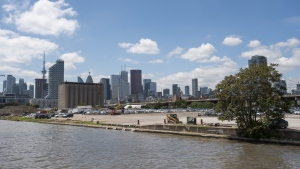 Views of the Port Lands area from Cherry St., the future home of Sidewalk Labs in Toronto on Tuesday, June 25, 2019. Waterfront Toronto's board is set to vote today on whether to approve key terms with Sidewalk Labs on the Quayside development project. THE CANADIAN PRESS/Andrew Lahodynskyj
