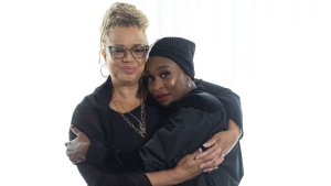 "Director Kasi Lemmons (left) and Actor Cynthia Erivo are photographed as they promote the film ""Harriet"" in Toronto, on Tuesday, September 10, 2019. During her superhuman treks to help enslaved friends and family flee Maryland for freedom via the Underground Railroad network, American abolitionist Harriet Tubman found herself in Canada. THE CANADIAN PRESS/Chris Young"