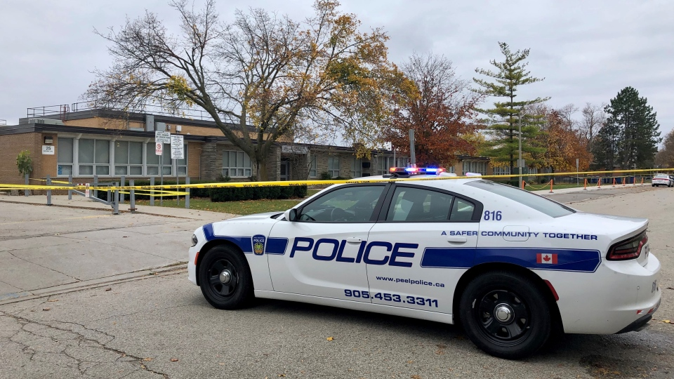 Peel police investigate a fatal shooting Friday November 1, 2019. (Natalie Johnson)