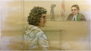 Jacob Alves,19, of no fixed address, and a 15-year-old girl of Richmond Hill have both been charged with three counts of aggravated assault and three counts of assault with a weapon. Both suspects have also been charged with one count of attempted murder and one count of possession of a dangerous weapon. (CTV News Toronto/ John Mantha)