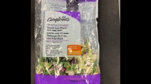Health Canada says Compliments brand fresh-cut vegetable products have been recalled due to possible Listeria contamination. (Photo supplied by Health Canada)