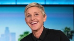 "FILE - In this Oct. 13, 2016 file photo, Ellen DeGeneres appears during a commercial break at a taping of ""The Ellen Show"" in Burbank, Calif. The Golden Globe Awards announced Monday, Nov. 5, 2019, it will give its new Carol Burnett Award, a TV special achievement trophy, to DeGeneres who has been a pioneering sitcom star, a TV talk show host and a game show host. (AP Photo/Andrew Harnik, File)"