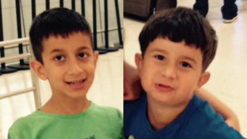 Jonathan Bastidas, 12, (left) and Nicolas Bastidas, 9, (right) are seen in this composite image. (Supplied)