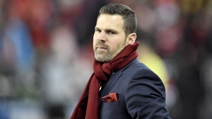 Toronto FC head coach Greg Vanney looks on during second half MLS Cup Final soccer action against the Seattle Sounders in Toronto on Saturday, December 9, 2017. FILE/THE CANADIAN PRESS/Frank Gunn
