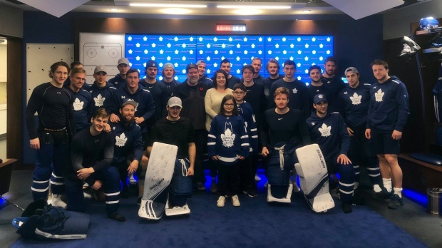Corner Brook boy meets Maple Leafs in Toronto after disappointing birthday party