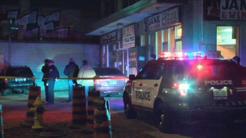 Toronto police are investigating a shooting at a pizza place in Weston.