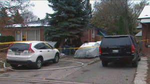 The Office of the Fire Marshal is investigating a North York house fire that sent four people to hospital.
